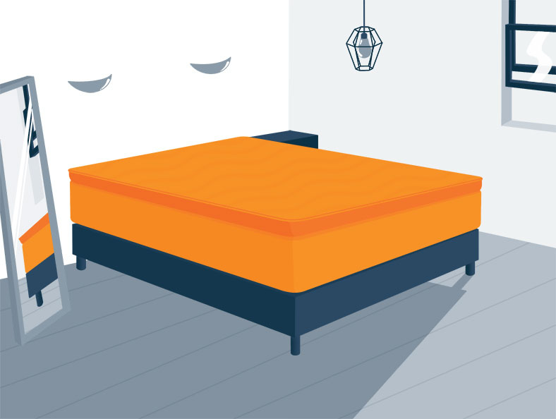 Pillow Top Bed Without Headboard and Footboard