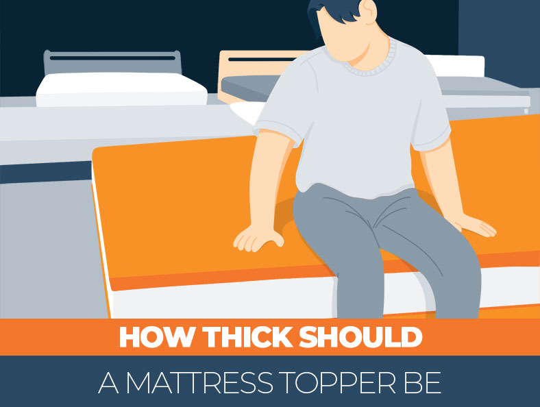How thick should a topper for a mattress be