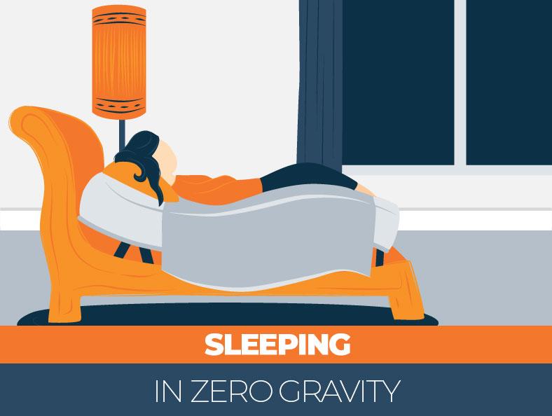 sleeping in zero gravity position benefits