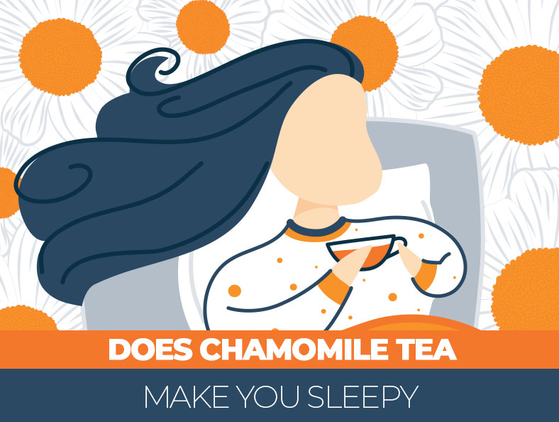 How does chamomile tea effects you during night