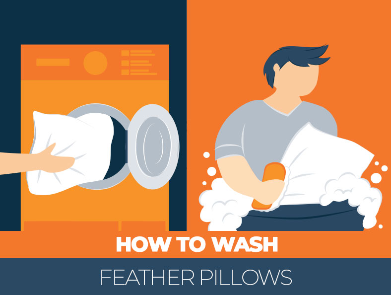 how feather pillows should be washed