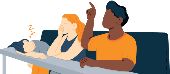 Illustration of a Group of Students in Class