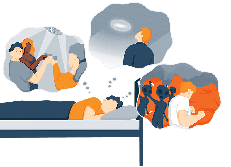 Illustration of a Person Dreaming