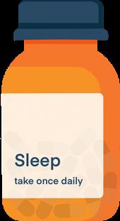 Illustration of A Prescription Bottle of Sleep Pills